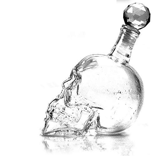 Halloween Cristal Cráneo Cabeza Botella Whisky Vodka Vino Decantador Botella Whisky Glass Cerveza Vidrio Espíritu Espíritu Copa Agua Vidrio Bar