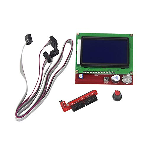 12864 LCD Grafik Smart Display Controller Board mit Adapter und Kabel für Arduino 3D-Drucker RAMPS 1.4 RepRap