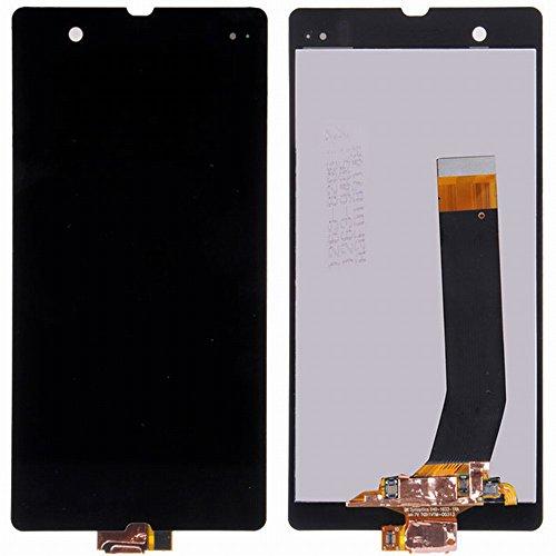 WeDone kompatibel mit Sony Xperia Z L36 L36i C6603 C6602 LCD Display Touchscreen Digitizer Glas Assembly Ersatzteile + Werkzeuge (schwarz)