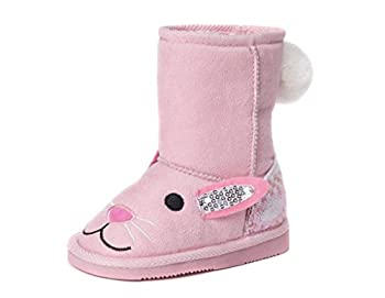 Muk Luks Girl s Bonnie Pink Bunny Boots Fashion 11 M US Little Kid