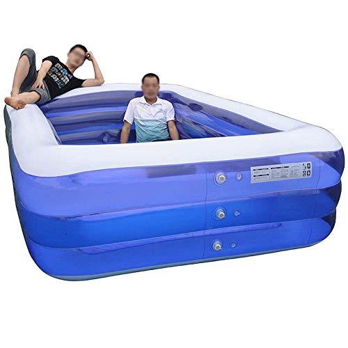 MMEI Piscina Inflable para niños de Gran tamaño Que engrosa el Cubo de natación para el hogar Piscina Grande para Adultos Piscina para niños para Fiestas Familiares Deportes acuáticos (tamaño: XXL)