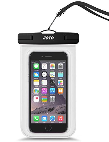 JOTO Waterproof Cellphone Dry Bag Underwater Case for iPhone XS Max XR X 8 7 6S Plus, Galaxy S10 Plus S10e S9 + Note 9 8 Pixel up to 6.5', Waterproof Pouch for Pools Tubing Beach Snorkeling -Clear