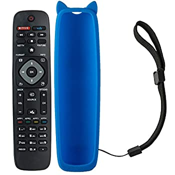 NH500UP Replace Remote for Philips 55PFL5602/F7 65PFL5602/F7 Remote 65PFL5602 55PFL5402/F7 50PFL5602/F7 TV 40PFL4901 32PFL4902 43PFL5602 Remote Control with Blue Remote Case  Included Batteries