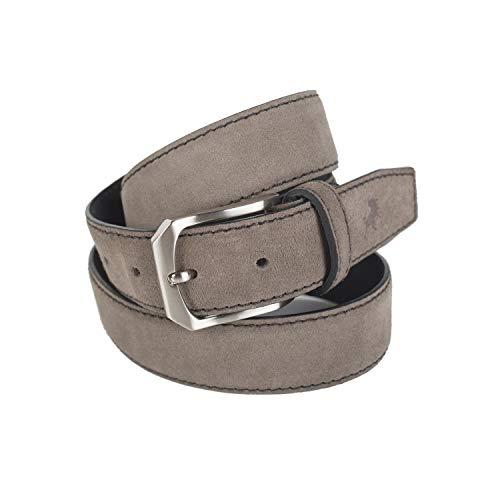 Lois - Cinturon Piel Serraje Ante Cuero Hombre Mujer. Hecho en ESPAÑA. Marca 35 mm Ancho. Talla Ajustable 49701, Color Taupe