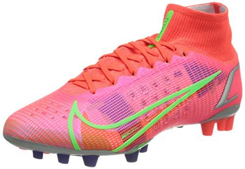 Nike Superfly 8 Elite AG, Zapatillas de ftbol Unisex Adulto, BRT Crimson Mtlc Silver Indigo Burst White Rage Green, 36.5 EU