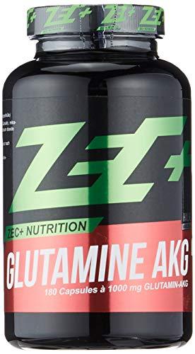 ZEC+ Glutamin AKG – 180 Glutamin Kapseln mit 1000 mg L-Glutamin-Alphaketoglutarat, enthält hochdosiertes Aminosäuren Pulver Made in Germany