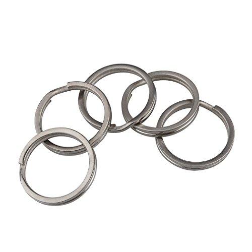 Llavero con anillas planas de titanio
