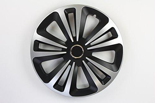 ZentimeX Z744992 Radkappen Radzierblenden universal 16 Zoll Silver Black