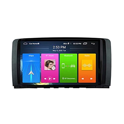 Android 8.1 Radio De Automóvil Para Mercedes Benz R Clase W251R280 R300 Coche Coche Estéreo GPS Navegación Táctil Pantalla Player Player Doble Din Head Unit Support WiFi Control D(Color:4G+WIFi:2+32G)