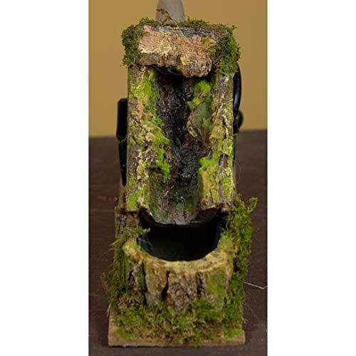 Rossi Rosa Wasserfall mit Bachlauf und Pumpe, 18 x 6,5 x 12 cm