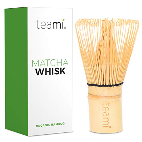 TRADITIONAL HANDMADE ORGANIC JAPANESE BAMBOO WHISK | Best to use with 100% Matcha Green Tea Powder for Perfect Latte's | Strong, Beautiful, & Durable Design | Great BIack Friday Gift.