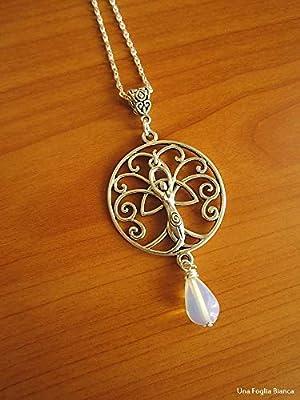 Collier triquetra déesse mère arbre de la vie breloques celtique bijoux fait main