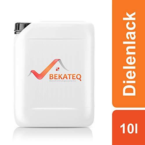 Bekateq Dielenlack BE-410 farblos 10l matt, Holzlack auf Wasserbasis zum Versiegeln von Böden und Holz, schmutz- und wasserabweisend
