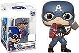 WangMaZi Funko Pop Capitán América la película Steve Rogers Super héroe Película Muñeca Juguete Figura de Dibujos Animados Muñeca Modelo Colección de Adornos-UN