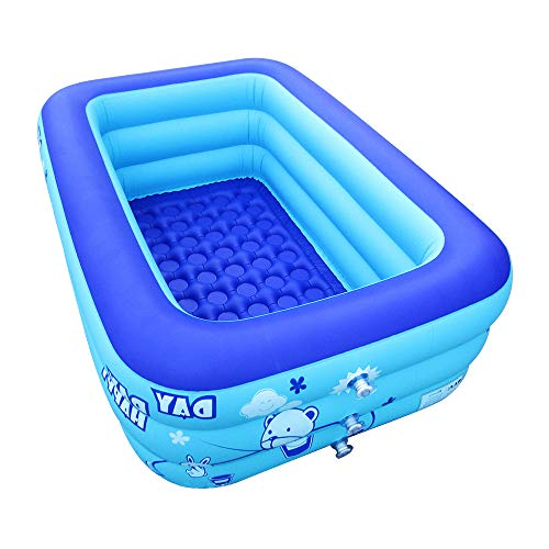 ECOiNVA Inflatable Swimming Pool Bathtubs Hot Tubs with Electric Air Pump (130cm)