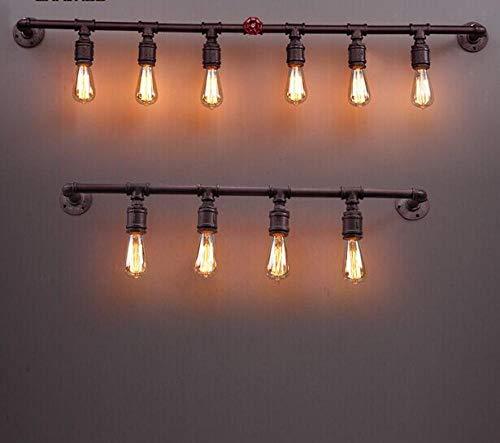 Loft Retro pijp van smeedijzer, industriële kleur, wandlamp, koffie, bar, verlichting