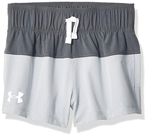 Under Armour Mädchen Splash Board Shorty Shorts, Pitch Gray (012)/White, Youth X-Large