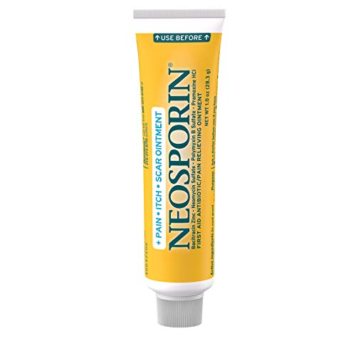 Neosporin Antibiotic Pain-Relieving, Anti-Itch, & Scar Appearance Minimizer First Aid Ointment with Neomycin, Bacitracin, Pramoxine HCl & Polymyxin B, Minor Cuts, Scrapes & Burns, 1 oz