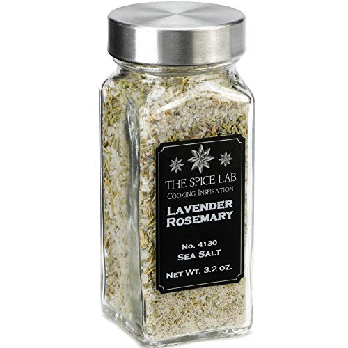 The Spice Lab No. 130 - Lavender Rosemary Salt - Gluten-Free Non-GMO All Natural Premium Gourmet Salt- French Jar