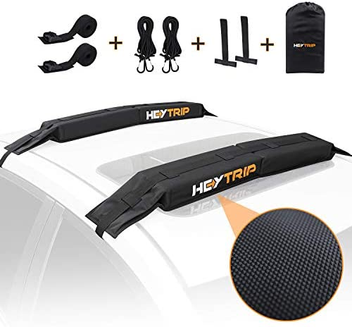 HEYTRIP Universal Soft Roof Rack Pads for Kayak Surfboard SUP Canoe with 15FT Tie Down Straps product image