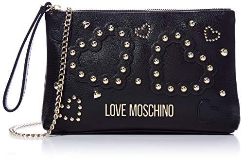 Love Moschino Damen Jc4033pp1a Handgelenkstasche, Schwarz (Nero), 4x16x25 centimeters