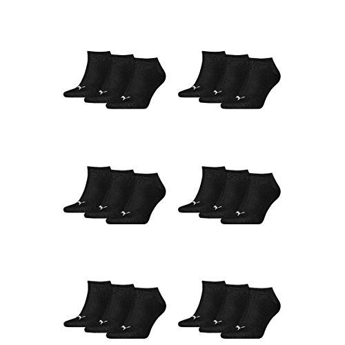 PUMA Unisex Sneakers Socken Sportsocken 18er Pack (Black, 47-49)
