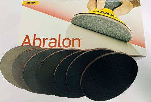 Abralon Schleifpad alle Körnungen Ø 150 mm ungelocht perfekt zum aufbereiten und reinigen von Ihrem Bowling Ball (je 1x180/360/500/1000/2000/3000/4000 Grit)