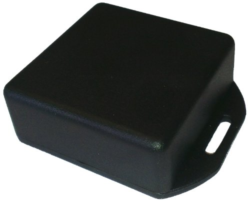 Hammond 1551RFLBK Black ABS Plastic Flanged Lid Project Box, 50mm x 50mm by Hammond Manufacturing