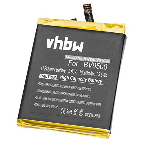 vhbw Akku kompatibel mit Blackview BV9500, BV9500 Pro Tablet Pad (10000mAh, 3,85V, Li-Polymer)