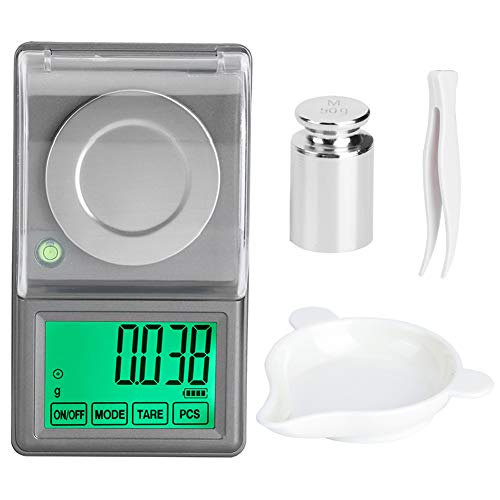 raguso 50g / 0,001g Mini báscula de joyería Digital de Alta precisión báscula de Laboratorio de balanza electrónica portátil de miligramos