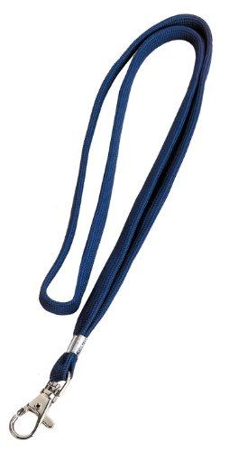 Veloflex 2023000 - Textilband für Namensschilder 10 mm breit mit Karabinerhaken, blau, 10 Stück