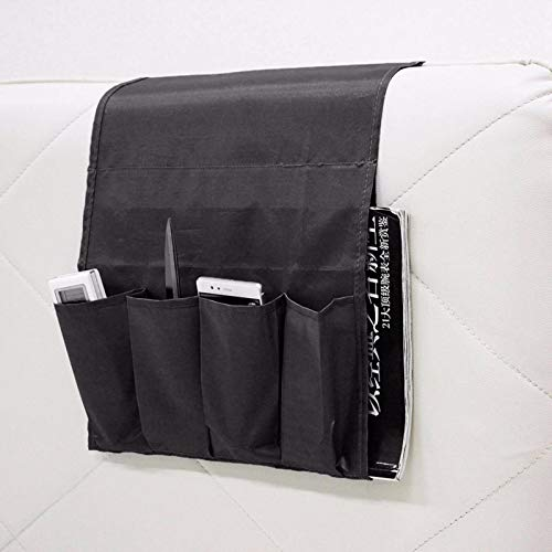 N-B Bolsa de almacenamiento multifuncional de poliéster con 4 bolsillos, organizador de almacenamiento para sillón, sofá, mesita de noche