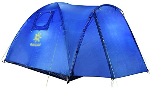 LAZ Tent Family 3-4 People Travel Outdoor Tent Plus Layer Rainproof Tent Camping Picnic Tent Family Tent (Color : Blue)