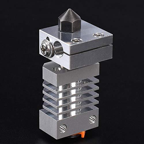 POPPRINT 2019122511 Actualice el disiPador de calor All Metal Hotend Piezas 3D para la impresora 3D CR-10 ENDER3, MK8 Boquilla Micro Swiss CR10 Titanium Heat Breaker