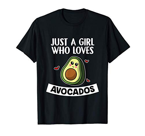 Just A Girl Who Loves Avocados Vegano Disfraz De Aguacate Camiseta