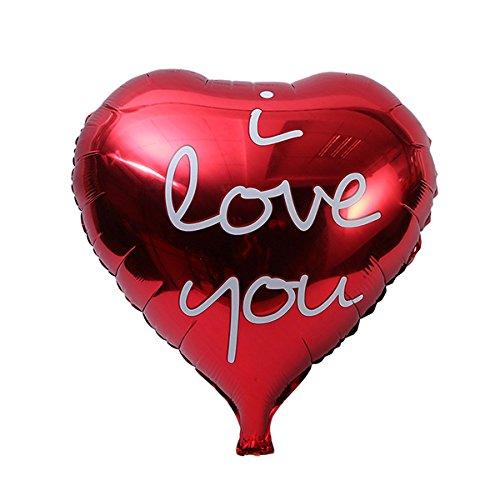 NUOLUX Globo de la Hoja del corazón del Amor de 18 Pulgadas TE Amo Globos de Mylar para la decoración del Banquete de Boda del día de Valentin