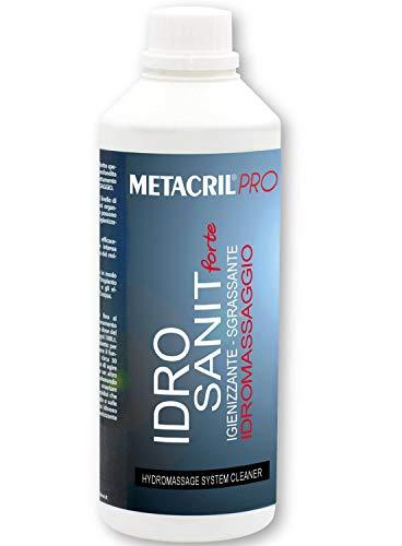 Metacril Idro Sanit Forte 1 L + Doseur dégradé. Désinfectant et désinfectant pour hydromassage (Teuco, Albatros, etc.)
