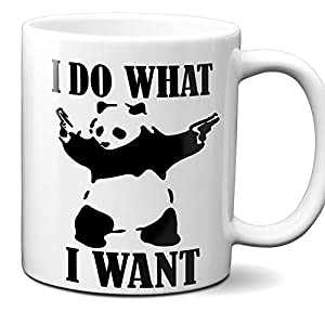 I Do What I Want - Funny Panda Bear Mug - 11OZ Coffee Mug - Mugs For Men - Angry Panda Bear Mug, Panda Bear Mug - Perfect Gift for Father's Day - By FNB Fashion