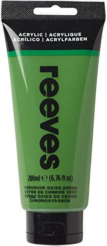 Reeves - Pintura acrílica 200 ml, Verde Óxido de Cromo