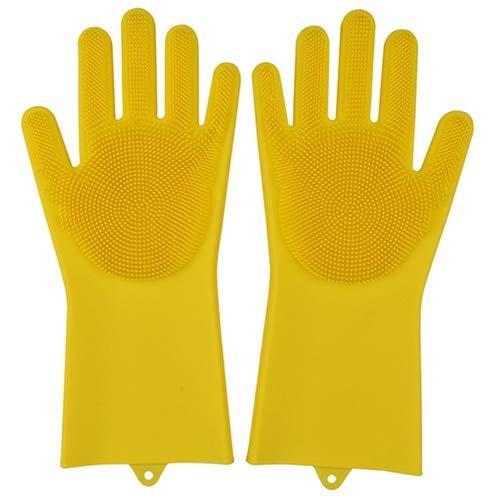 Las Herramientas de Limpieza de Guantes de Silicona multifuncionales para cocinas Son adecuadas para hoteles y restaurantes y se Pueden Usar repetidamente-Yellow