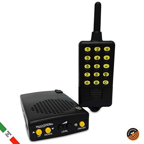 MultiSound - Micro-Lit llamador de Aves Digital. Reclamo electrónico para pájaros con Control Remoto. Específico para zorzales y alondras y en General para Todas Las pequeñas migratorias.