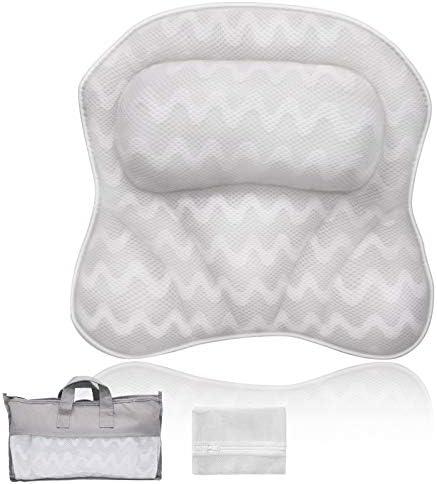 Bath Pillows For Tub Premium 3D Mesh Breathable Bathtub Pillow Ergonomic Comfort Spa Bath Pillows product image