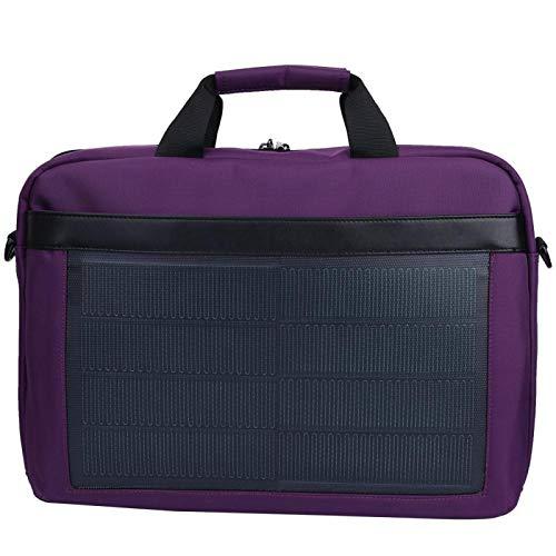 SALUTUYA Bolso de Mano con Cargador Solar Duradero portátil de poliéster de 8W 5V / 1.2A, con Salida USB Dual, para Estudiantes, Oficina, para Viajes, Negocios, Universidad