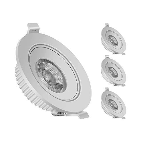 E14 LED Kerze Glühbirne, 300 lm, 4500K Neutralweiß, 3W Ersetzt 30W Lampe, C37 LED Leuchtmittel, Kleine Edison Schraube, Nicht dimmbar, 10er Pack