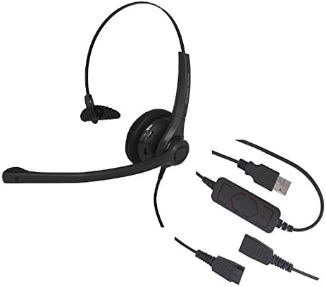 new arrival USB outlet online sale Training Headset Bundle | 2 Voicelync Monaural USB Headsets w/Detachable USB Cords, 2021 1 Y-Cord Adapter - for use on Computer - Complete Set-up outlet online sale