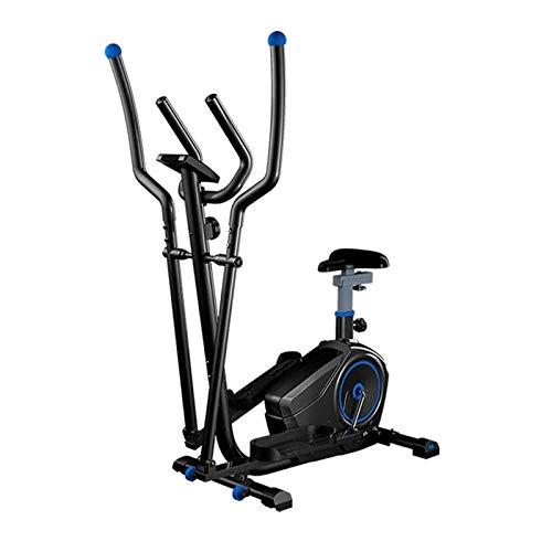 Entrenador Elíptico Y Bicicleta Estática con Asiento Ajustable Y Pantalla LCD Fácil/Entrenador Doble 2 En 1 Máquina De Entrenamiento Cardiovascular para Oficina En Casa TDD