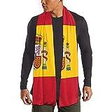 Bufanda larga Bandera de España Bufanda larga Bufandas más cálidas de invierno Chal