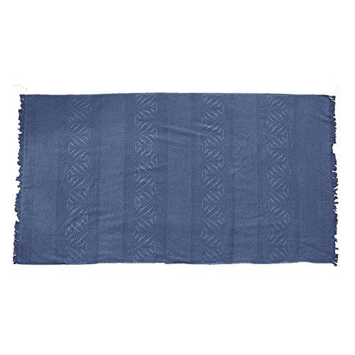 Vivaraise - Drap de Bain Zoé - 100x180 cm - Serviette de Plage, Spa, Piscine, hammam - Liteau Grande Taille - Tissu éponge Absorbant - 100% Coton - Motif Jacquard