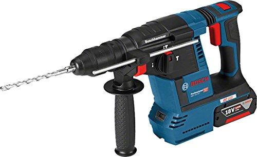 Bosch Professional 18V System Akku Bohrhammer GBH 18V-26 F (2x6.0Ah GBA 18V Akku, Schnellladegerät GAL 1880 CV, Schnellwechselbohrfutter, Wechselfutter SDS plus, L-BOXX 136)