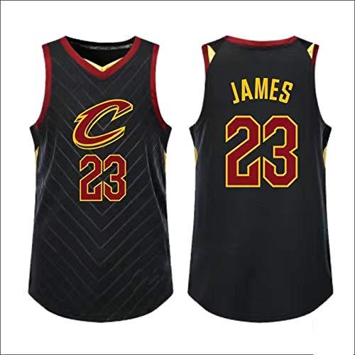 FCSL Black – Camiseta de baloncesto para hombre apto para deportes # 23 de James Lebron Cleveland Cavaliers de 2020/21 temporada de secado rápido Jersey